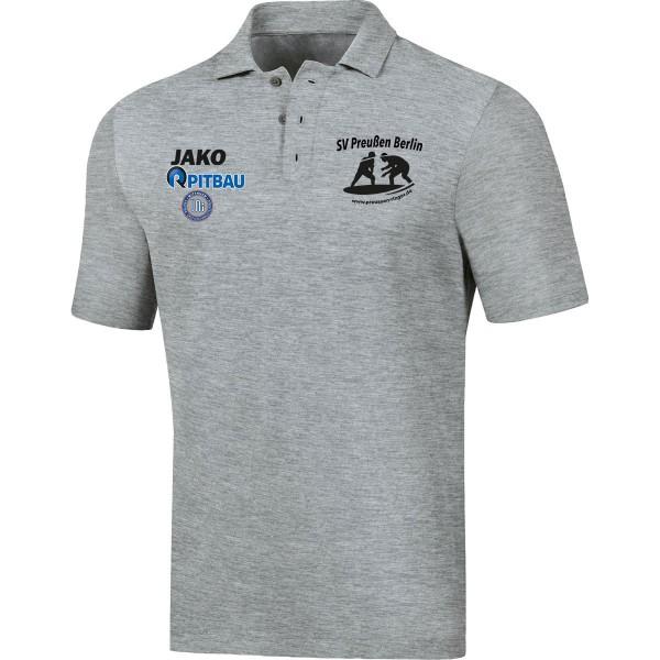 SV Preußen Berlin - Ringer - Jako Polo Base hellgrau meliert