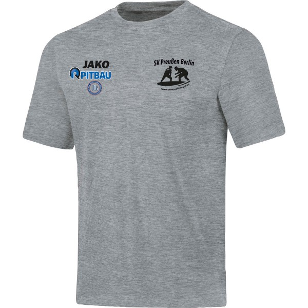 SV Preußen Berlin - Ringer - Jako T-Shirt Base hellgrau meliert