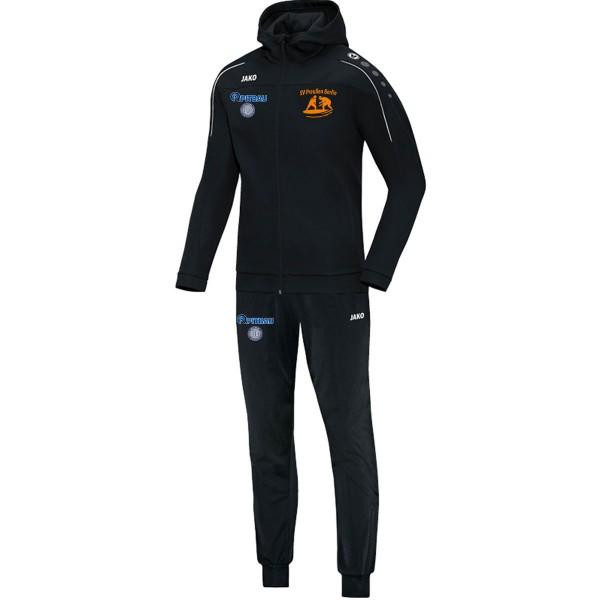 SV Preußen Berlin - Ringer - Jako Trainingsanzug Polyester Classico mit Kapuze schwarz